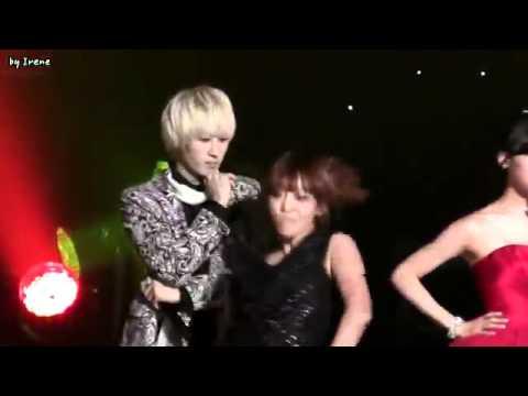 (Eunhyuk focus)110927 Super Junior - Oops!! ft. SNSD Tiffany @ YHY's Sketchbook Recording