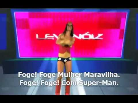 foje mulher maravilha com super mem. Liga da Justia   Leva Noiz ( + Clipe Oficial ).wmv