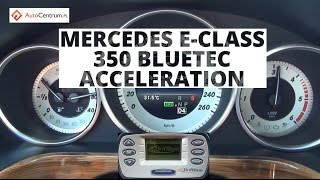 Mercedes-Benz E 350 BlueTEC 252 KM - acceleration 0-100 km/h