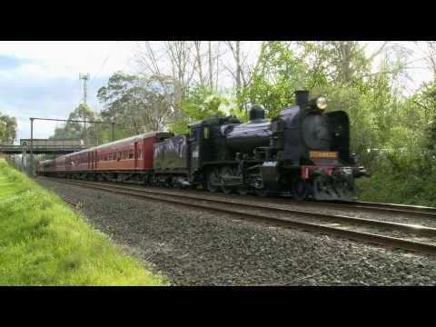 Steamrail  Australian Steam Trains K153 & K190 - Mitcham to Mooroolbark Part 1