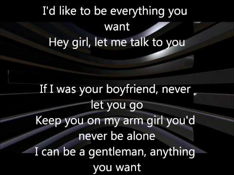 Justin Bieber- Boyfriend Karaoke/Instrumental with Lyrics on Screen (Official 2012)