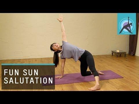 A Fun Sun Salutation, Yoga Warm up with Aki Omori