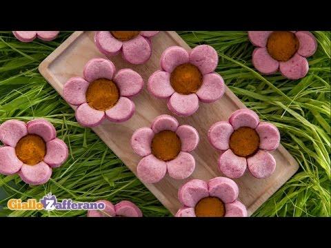Savory flower tartlets - kid friendly recipe