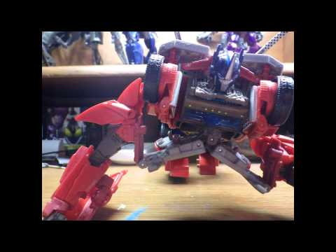 Transformers prime optimus prime transform!!!(stop motion)