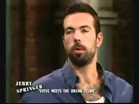 Steve Wilkos hosting The Jerry Springer Show - Steve Meets The Drunk Felon (Part 1 of 3)