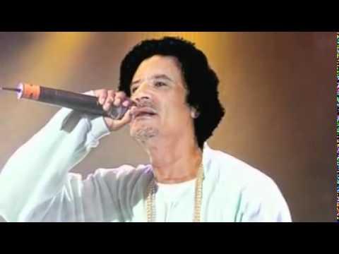 pop star gaddafiزنكا زنكا مع معمر القذافي نجم البوب