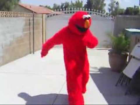 C Walking In A Elmo Suit!