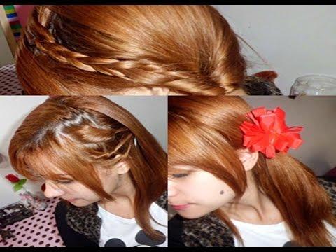 3 penteados fáceis para quem tem cabelo repicado e franja