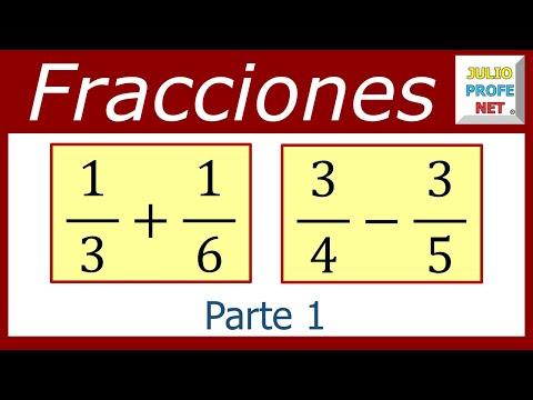Suma y resta de fracciones heterogeneas (Parte 1 de 2)