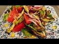 Осенний салат из баклажанов с помидорами