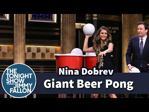 Giant Beer Pong at The Tonight Show Starring Jimmy Fallon