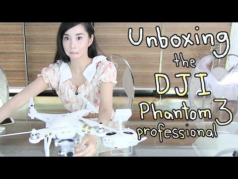 Unboxing DJI Phantom 3 Professional + Test Flight - Alodia