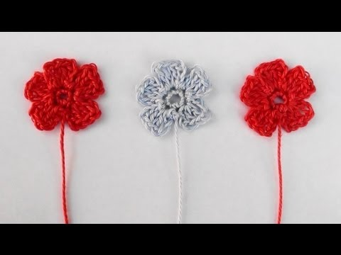 Small Crochet Flower by Crochet Hooks You