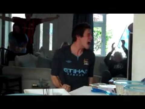Man City v QPR Aguero Winning Goal Reaction Premier League Champions 2012