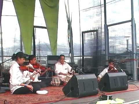 "Kal Ho Naa Ho"" Indian Bollywood song instrumental played by khansstrings on violin and tabla."