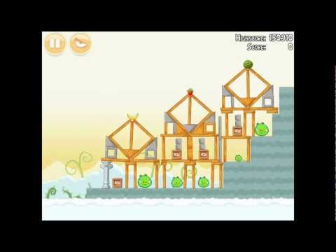 Angry Birds Danger Above 8-13 Walkthrough 3 Star