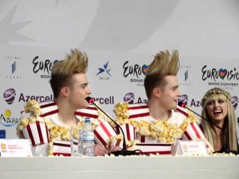 ESCKAZ live in Baku: Jedward (Ireland) Press Conference