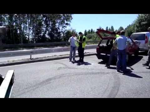 Wypadek na drodze ze Świebodzic do Wałbrzycha