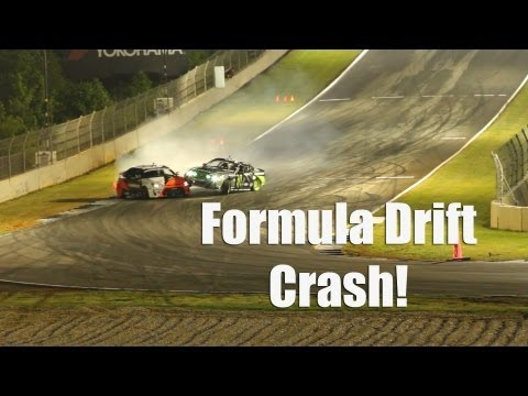 Formula Drift Crash - Vaughn Gittin Jr. vs Fredric Aasbø - Road Atlanta 2013
