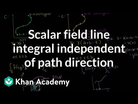 Scalar Field Line Integral Independent of Path Direction