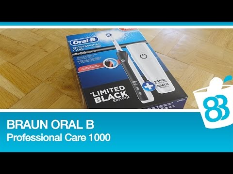 Braun Oral-B Professional Care 1000 Limited Back Edition Unboxing und Test