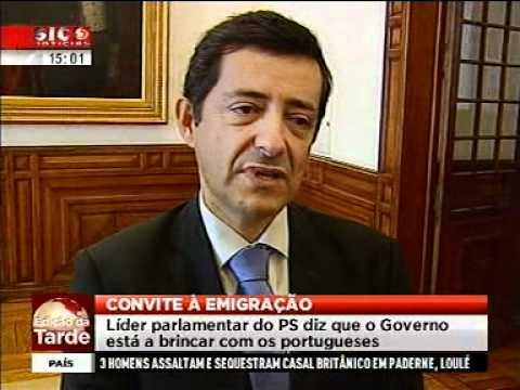 Declarações do Líder Parlamentar do PS Carlos Zorrinho SIC Noticias