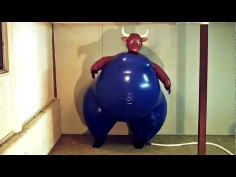 Inflatable Latex Cow Suit