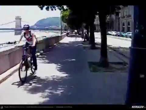 VIDEOCLIP Budapesta pe bicicleta, piste pentru biciclete si infrastructura pentru biciclisti