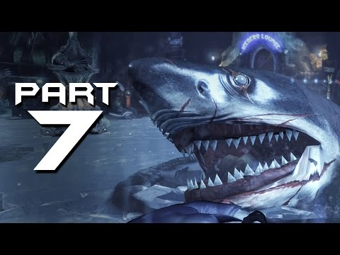 Batman Arkham City Walkthrough Part 7 - BIG SHARK !!!