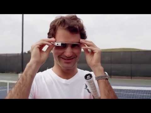 Roger Federer through Glass