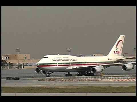 RAM   Royal Air Maroc 747-428 CN-RGA arrives New York