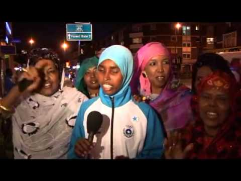 Very emotional (Somali Olympian Zamzam sings for Somalia)