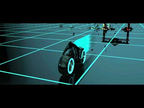 Tron Legacy 3D 2010 Visual Effects Test Lightcycle Race