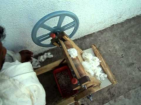 Cotton Gin - WHEEL GIN  ( Hand Cranked Cotton Gin)