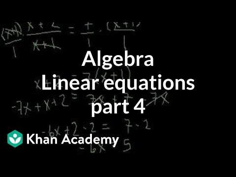 Algebra: Linear Equations 4