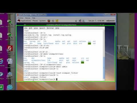 commandes de base sous linux(Basic linux commands) chap 1