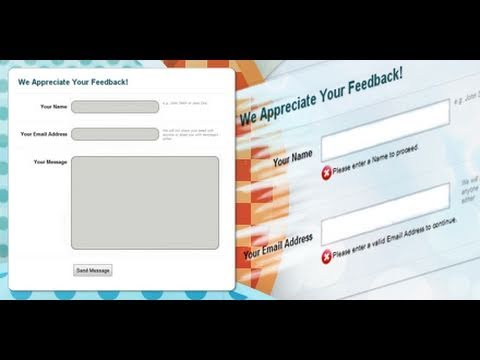 PHP Contact Form and Form Validation | Dreamweaver Tutorial - 2 of 2