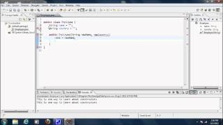 Java Video Tutorial 24: Constructors