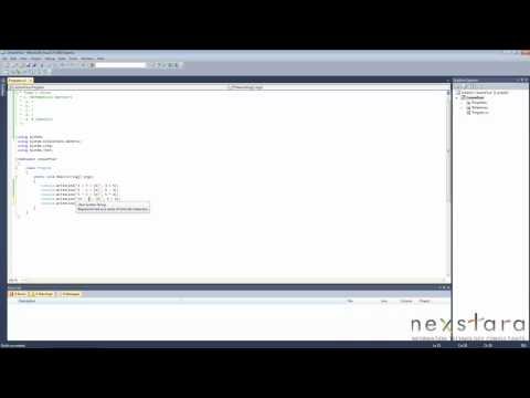SharePoint Development Training Course - Programming C# 4.0 Lesson 4 - Mathematical Operators