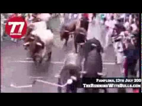 13th July 2008 - The running of the bulls in Pamplona
