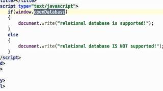 Checking Whether HTML5 Relational Database is Supported