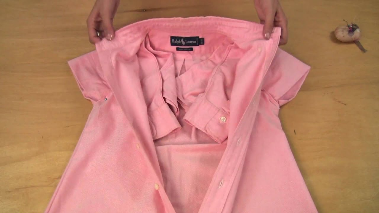 Мастер-класс:шить из рубашки платье своими руками в домашних 19