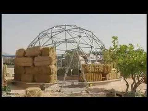 Straw Bale Geodesic Dome