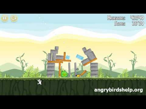 Angry Birds Level 2-12 - 3 Star Walkthrough