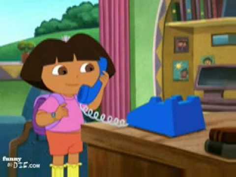 Alec Baldwin screams at Dora the Explorer
