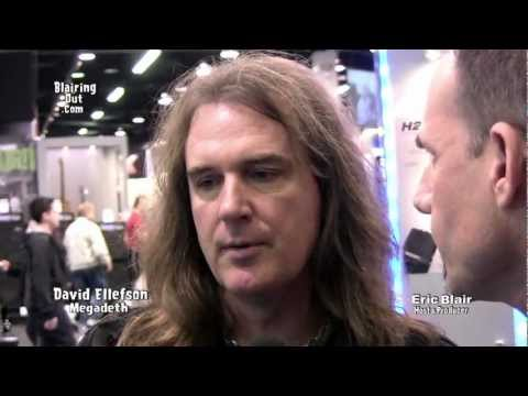 Megadeth's David Ellefson talks W Eric Blair @ NAMM 2013