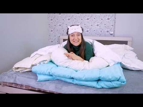 Пуховое одеяло 100% белый пух кассетное