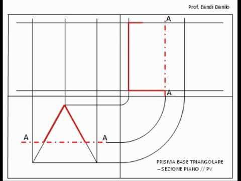 Prisma base triangolare: sezione piano // PV