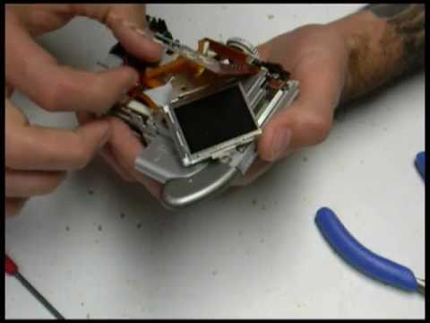 Canon A70 teardown / CCD repair