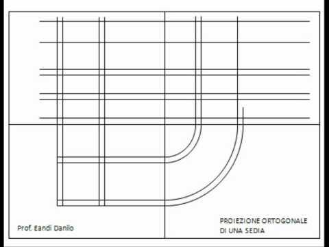 Proiezione ortogonale di una sedia